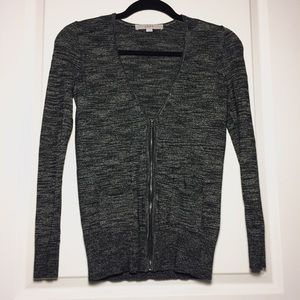 Loft Zip-Up Cardigan Sweater
